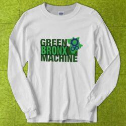 White Unisex GBM-Logo Crew-Neck Long-Sleeve T-shirt
